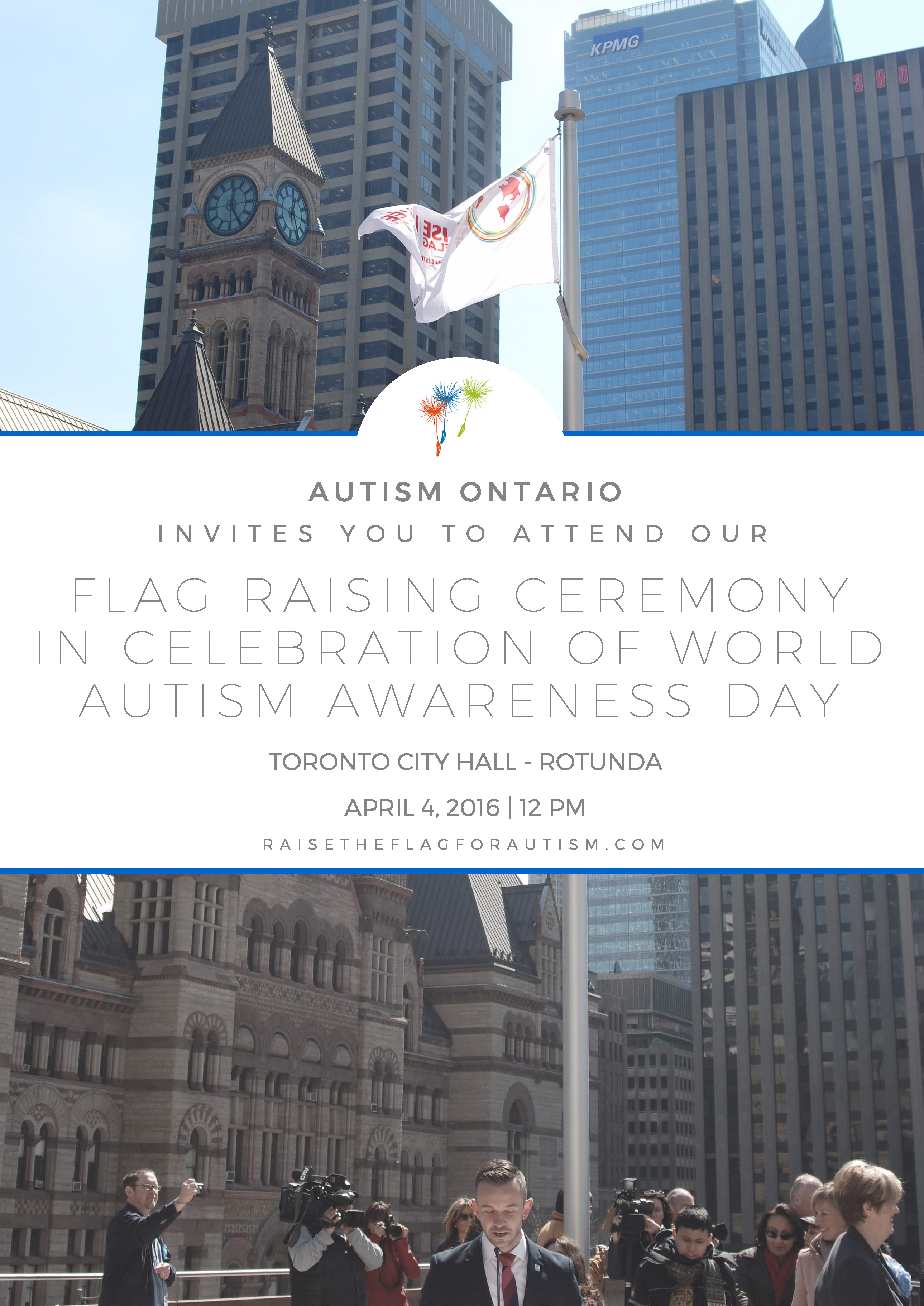 Raise the Flag for Autism 2016 Toronto Invite